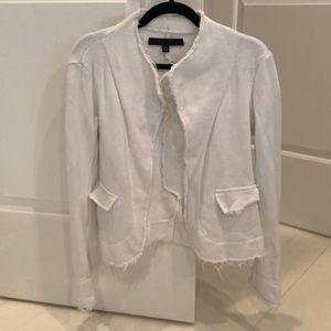 Veronique Miljkovitch White Cotton Terry Blazer S